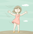 girl and wind vector image vector image