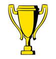 golden trophy cup icon icon cartoon vector image vector image