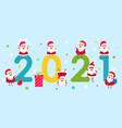 happy new year 2021 collection characters santa vector image vector image