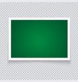 horizontal green chalkboard in neat plastic case vector image vector image