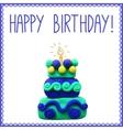 Icon of plasticine birthday cake vector image vector image