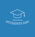 international students day poster vector image vector image