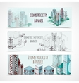 Isometric Building Banners vector image vector image