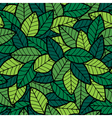 Leafs Seamless Pattern Spring vector image