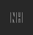 Letter NH logo monogram decoration design element vector image vector image