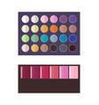 make up palette of eyeshadow vector image vector image