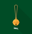 Merry Christmas small bell flat design vector image