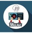 Music design dj icon White background vector image vector image