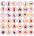 muslim and islam themed icons vector image