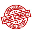 natural antioxidants round red grunge stamp vector image vector image