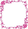 pink frame floral vector image vector image