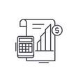 profit report line icon concept profit report vector image vector image