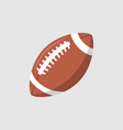 rugby ball icon football american league vector image vector image