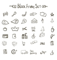Sale icons theme vector image