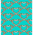 Seamless heart pattern2 vector image vector image