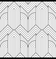 seamless linear geometric pattern vector image