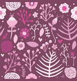 seamless pattern floral pink background editable vector image vector image
