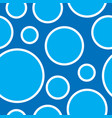 seamless pattern with blue bubbles geometric vector image