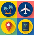 Set of Flat Quality Travel Icons vector image vector image