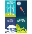 set of posters urging people to be eco-friendly vector image vector image