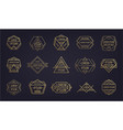 set vintage hipster insignias and vector image