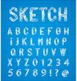Sketch alphabet set vector image vector image