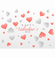 sketch hearts pattern background for valentines vector image