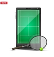 Smartphone with american tennis ball and field on vector image vector image