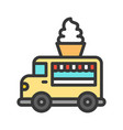 soft serve truck food truck filled style vector image vector image