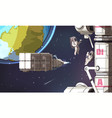 space mission background vector image