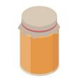 spring honey jar icon isometric style vector image