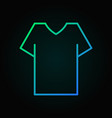 t-shirt colored outline icon - shirt sign vector image vector image