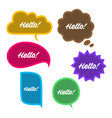 trendy speech bubbles set in flat design with vector image vector image