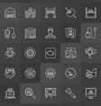 vehicle diagnostics icons vector image vector image