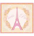 vintage retro Eiffel card vector image