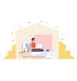 work from home adult woman working young vector image