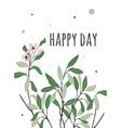 bright postcard with a good day vector image