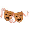 Tragedy and Comedy masks vector image