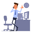 Businessman standing and talking on the phone vector image