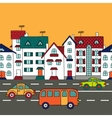 Cityscape with road transport vector image