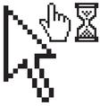 mouse cursors set vector image
