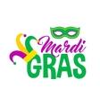 Bright mardi gras lettering vector image