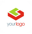 3d shape business logo vector image