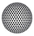 abstract sphere with black circle dots vector image vector image