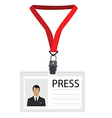 Badge for press vector image