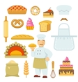 Bakery Decorative Flat Icons Set vector image vector image
