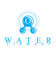 blue h2o water logo for use as business emblem in vector image