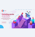 business marketing service website template vector image vector image