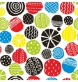 Colorful seamless pattern with decorative circles vector image vector image