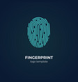 concept logo with fingerprint scan biometric vector image